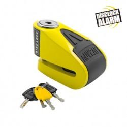 Auvray Cadeado de Disco B-Lock 06 Amarelo/Preto c/ Alarme