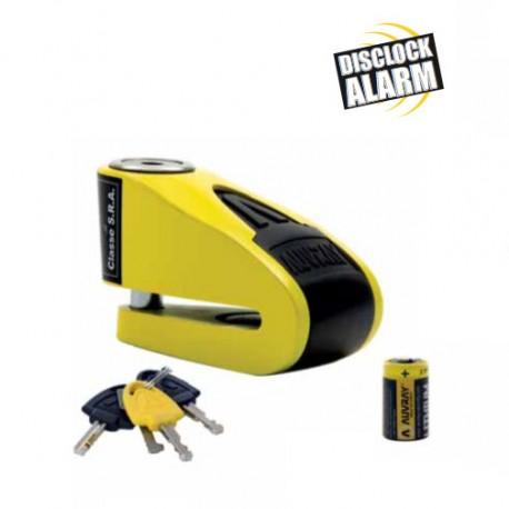 Auvray Cadeado de Disco B-Lock 10 Amarelo/Preto c/ Alarme