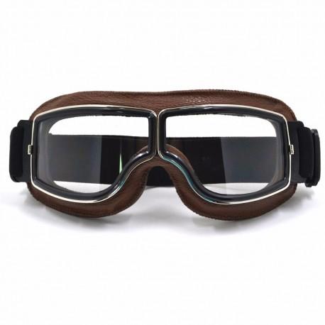 Invictus Goggles Aviator Castanho lente Transparente
