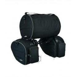 Lovo Alforges com saco traseiro LVB57 Travel Preto
